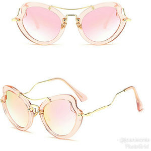 Trendy ROSE Cat Eyed MIRRORED Sunnies